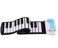 Wholesales Custom OEM Portable 37 Keys Electronic Digital Roll Up Roll-Up MIDI Soft Piano Keyboard Instrumentos musicais Frete grátis