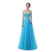 Wholesale Real Sample Short Sweetheart Dresses - Free shipping Real sample Sky Blue Prom Gowns Sweetheart abiti da cerimonia da sera Evening Dresses 2017 abito sposa