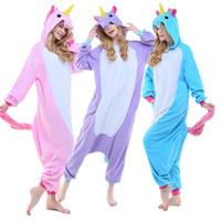 Wholesale Unicorn Adult Onesie - Unisex Adult Animal Onesie Cosplay Anime Costume Unicorn Pony Kigurumi Pegasus Pajamas