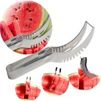 en akıllı araç toptan satış-Karpuz Dilimleyici Paslanmaz Çelik Meyve Soyucu Faydalı Akıllı Mutfak Gadget 200 adet Dilim bıçağı meyve dilim bıçak IC561