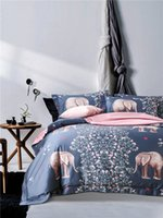 Elephant Butterfly 60S Algodão King Queen stain Bedding Sets of Density Europe Moda Deco Duvet Cover Folha de dormir Pillowsham 4pc