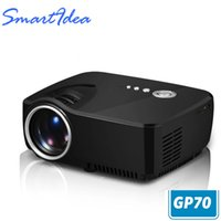 Wholesale Enjoy Tv - Wholesale-SmartIdea Projector 1200Lumens Support 1920x1080P Analog TV LED Projector MINI Projector for Home Cinema enjoy Free HDMI Cable