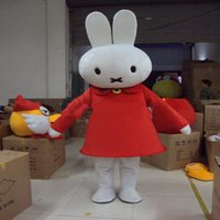 Wholesale Miffy Rabbit Costume - 2017 High quality Miffy Rabbit Mascot Costume Fancy Party Dress Halloween Carnival Costumes Adult Size