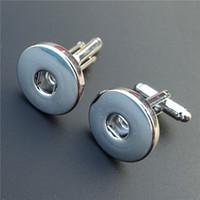 ingrosso gemelli di bottoni a bottone-12 paia / lotto moda in lega di zinco mens gemelli Noosa pezzi 18mm bottoni a pressione tie clip snappin