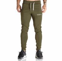 Wholesale Mens Professional Pants - Wholesale-Gymshark Men Black Green Casual Sport Training Pants Slim Fit Mens Jogging Running Trousers Professional Bodybuilding Sweatpants
