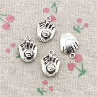 Wholesale Antique Gloves - 45pcs Charms Jewelry baseball glove 20*14mm Antique pendant ,Zinc Alloy Ancient Sliver DIY Craft Necklace Bracelet Accessories