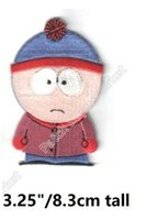 Wholesale South Park Clothing - South Park Stan Figure patches Embroidered Iron On Badge Movie Film TV Series halloween cosplay costume clothing diy