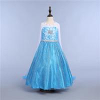 trajes da rainha venda por atacado-Meninas Snow Queen Princesa Dress-up Traje Cosplay Make-up Partido Princesa Rapunzel Vestido De Renda 10 Estilo DHL Navio PX-D05