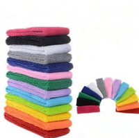 cintas para la cabeza bordadas al por mayor-Bandas para el cabello Sport Sweatband Bufanda Toalla de algodón bordada para hombres y mujeres Buena capacidad de absorción del sudor Venta caliente 1 3jy F