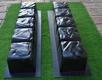 Wholesale Garden Concrete - pillow 2 PIECES EDGE CONCRETE MOLDS EDGING BORDER MOULD ABS PLASTIC Garden Mold Path Road Stepping Maker