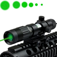 Wholesale Green Designator - Tactical 20mW Green Laser Sight Adjustable Green Laser Designator Flashlight Illuminator Hunting Laser Sight With 21mm Rail