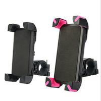 gps sahipleri bağlar toptan satış-Evrensel Bisiklet Bisiklet Motosiklet Gidon Montaj Telefon Tutucu Destek iPhone 7 Için 7 artı 6 s Artı Samsung Galaxy S7 Kenar GPS