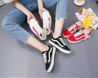 Wholesale Old Couple - Classic Black White Stripe Van Old Skool Suede VS Canvas Shoes Fashion Men Women Couple Skateboarding Shoes Sneakers Flats Espadrilles