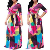 Wholesale plus size european winter dresses - European 2017 Autumn And Winter Will Code Suit-dress Long Sleeve V Waist Dress Woman