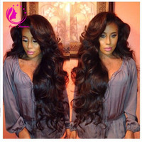 Wholesale discount virgin hair - Special Discount! Virgin Human Hair U Part Wigs Brazilian Virgin Hair UPart Wigs Body Wave For Black Women Baby Hair Free Shipping