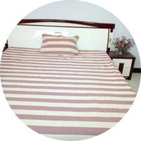 reina de la cama rosas púrpuras al por mayor-ropa de cama de algodón de color natural 3 piezas ropa de cama de algodón marrón natural juegos de cama de algodón 2 piezas almohada 1 hoja de cama suavidad color natural puro