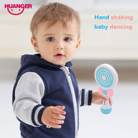 Dhgate Baby Rattles Music Lollipop Mano mobile Shake Bell Ring lampeggiante 0-24 mesi Unisex Newborn Kids Toy Regalo educativo