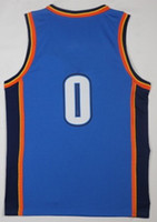 Wholesale Flash For Sale - 2017-18 New Style 0 Russell Westbrook 7 Carmelo Anthony 13 Paul George Jerseys 2018 Men Sale Blue White Home Jersey For Sport Fans Quality