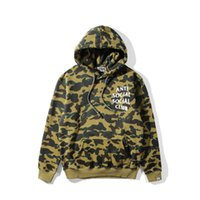 Wholesale Sweater Hoodies For Women - New High Street Men's Sweater ASSC Hedging Pullover Hooded Sweater Hoodies For Men Women Camouflage Hoodies