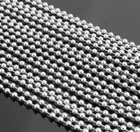 Wholesale Cheap Silver Rhinestones Bulk - 100pcs Lot Cheap Jewelry Wholesale in Bulk Silver Stainless Steel round ball beads chain necklace fit pendant thin 1.5mm 2.4mm