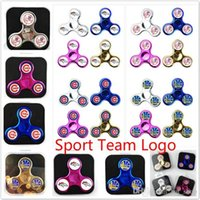 Multicolor sports broncos - Chicago CubS Sport Fidget Spinner New York Yankees Broncos Warriors Three Way with PVC Box EDC Hand Spinner Toy With Baseball Team Logo Hot