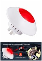 Wholesale Security Alarm Horns - Wireless Flashing Indoor Siren Alarm Flash Horn Red Light Strobe Siren 433 MHz suit for Security Alarm Systems home Siren