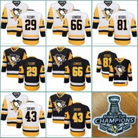 Wholesale Youth Hockey Cup - 2017 Stanley Cup Champions Youth Pittsburgh Penguins Kids 81 Phil Kessel 66 Mario Lemieux Conor Sheary 29 Marc-Andre Fleury Jersey Jerseys