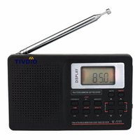 Commercio all'ingrosso 3-pc portatile stereo FM radio DSP FM / MW / SW / LW F9201 Radio portatile Full Band mondiale Receiver Clock Alarm10KHz Radio FM