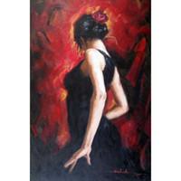 знаменитые картины маслом женщины оптовых-Известный художник цыганский фламенко женщина картины маслом воспроизведение современного искусства высокого качества