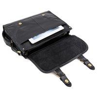 """Wholesale Messenger Bag 13 Men - Mens Genuine leather Business Bag Messenger 13"""" MacbookPro Bag Single Shoulder Bag Black Color 7101"""