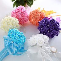 Foam Flowers Wedding Bouquets Flor artificial de cristal barato para noivas Bridal Wedding Wedding Supplies Free Shipping