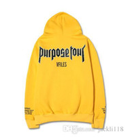 Wholesale Cheap Designer Hoodie - cheap designer fear of god hoodies for men women sweatshirt sweats Harajuku streetwear justin bieber hoodie hip hop purpose tour hoodies