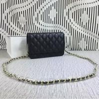 Wholesale 18 thread - Hot sales mini women Fashion High quality original brand designer handbag Shoulder Bags Caviar Gold chain and silver chain (18 color) #33814