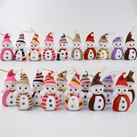 Wholesale Big Pendent - Wholesale Mixed Style Christmas Ornaments New Year Decoration Snowman Christmas Tree Hanging Pendent Dolls Navidad Gift Xmas