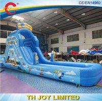 Wholesale Pool Inflatable Slides - free shipping9x2x4m commercial grade backyard inflatable water slides,inflatable slide,kids & adults inflatable water pool slide