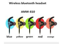 Wholesale Hook Over Ear Headphones - AMW-810 Bluetooth Earphone Sport Earhook Earbuds Stereo Over-Ear Wireless Headset Headphone with Mic for iphone samsung free DHL