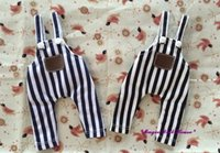 Wholesale Doll Overall - 2017 Free Shipping Hot Sale Neoblythe Doll Outfits # Denim Stripe Fabric Overall for neoblythy doll Azone Doll clothes for retail