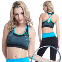 Wholesale Steel Women Underwear - Fashion sports bra no steel ring gather cross vest fast running fitness yoga sports underwear Sweatshirt
