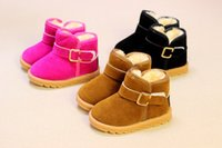 Wholesale Thick Fabric Wholesale - Winter Children Shoes Warm Girl Snow Boots Shoes Fashion Anti Slip Thick Boot 5 P l