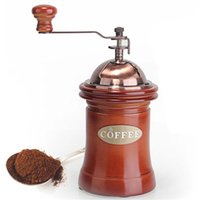 Wholesale New Sale Hand Coffee Grinder Wooden And Metal Design Household Mini Manual Coffee Mill Crank Coffee Bean Grind