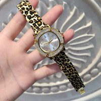 Wholesale fashion girl model dress online - 2017 Hot Brand diamond Leopard Watch Lady Quartz Fashion Watch Female Luxury New model Wristwatches Gold Color Dress Watches Gift for girls