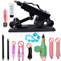 Wholesale Sex Anal Machines - Automatic Sex Machine with Many Dildo Attachment Male Masturbator Adjustable Speed Sex Robot Free Gift a Viibrator Anal Beads Lubricant Oil