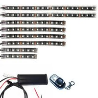 Wholesale Super Bright Amber Led - LED Soft Article Lamp Mix Color Auto Car Handlight Bar Lights Belt Super Bright Chip Switchback Tube Guide Strip Daytime Running Amber Knigh
