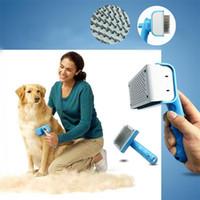 Wholesale Plastic Multifunction Pet Dog Cat Hair Fur Massaging Comb Grooming Pet Hair Grooming cleaning comb IA595