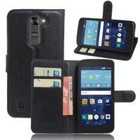 Wholesale Cover Dual Sim - Leather Case For LG K7 X210 X210DS MS330   Tribute 5 LS675   K7 Dual SIM Flip PU Leather Cover Phone bag