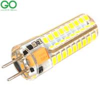 12v led glühbirnen boote großhandel-GY6.35 LED Birne 12V AC / DC 4W 9W Silikon-Boots-Lampe 48 SMD 2835 ersetzen Halogenlampen 72 SMD 2835 Mais-Leuchter-Kristalllichter
