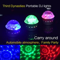 müzik aktif ışıklar araba toptan satış-Taşınabilir çok renkli Ses Aktif müzik ritim ışık araba DJ ışık strobe lamba Parti KTV kulübü sahne ışık