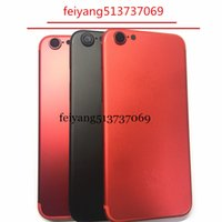 Wholesale Aa Cover - AA quality For iPhone 6 6G 6S 6 plud 6sP Like 7 Style 7 PLUS Back Rear Cover Battery Housing Door Chassis Middle Frame Matte black Red