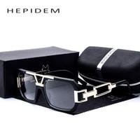 grandes monturas de gafas al por mayor-Venta al por mayor- Cuadrados de hombre Gafas de montura grande Pareja Mujer Diseñador de la marca Gafas de gran tamaño Gafas Brad Pitt con caja de lentes transparentes