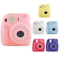 Wholesale Fuji Media - 2016 Direct Selling Special Offer Medium Format Auto Genuine Fuji Fujifilm Instax Mini 8 Film Photo Instant Camera Pink Fast free Shipping